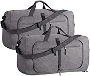 Duffel Bag 40L Packable Duffle Bag with Shoes Compartment Unisex Travel Bag Water-Resistant Duffle Bag