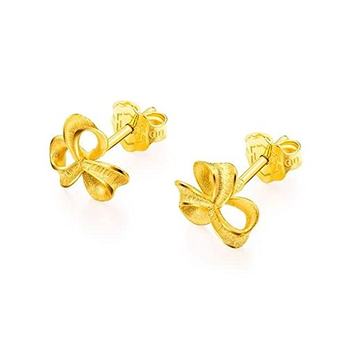 Beydodo 2.08g 24K Yellow Gold 999 Stud Earrings for Womens Small Windmill Earrings Stud for Wedding by Beydodo