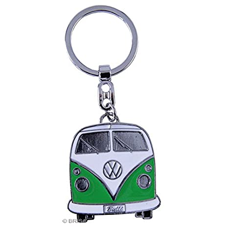 BRISA VW Collection VW T1 Bus Key Ring in Gift Tin - Green