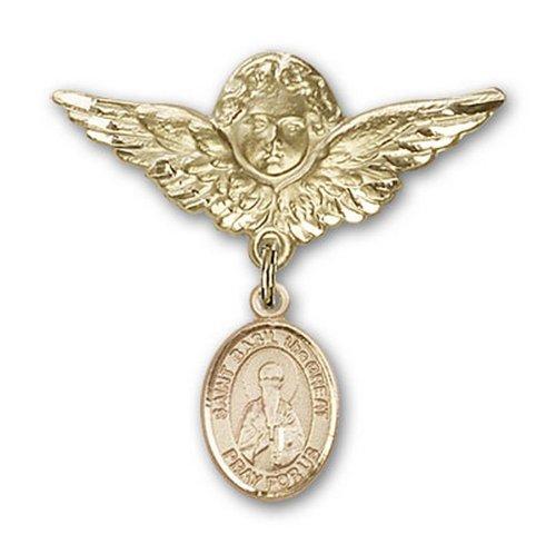Icecarats Or Bijoux De Créateurs Rempli R. Basile Le Pin Badge Grand Ange Charme 1 1/8 X 1 1/8