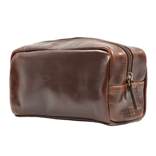 Moore and Giles Mini George Toiletries Kit - Brown