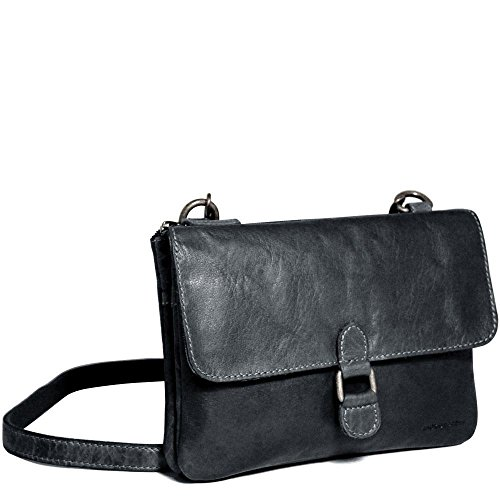 Jack Georges Voyager Collection Wallet on String, Leather Card Case in Slate by Jack Georges