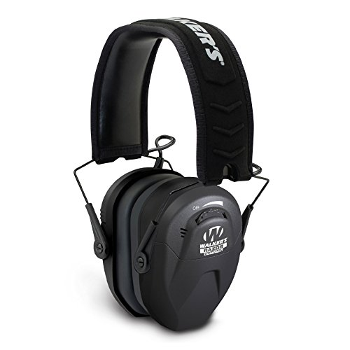 Walker's Razor Slim Compact for Youth and Women Electronic Hearing Protection Muff with Sound Amplification and Suppression. Protect It Or Lose It! (Best Shooting Hearing Protection 2019)