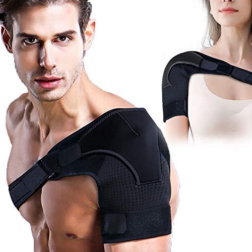 Shoulder Brace for Women & Men Shoulder Support with Pressure Pad Breathable Neoprene Shoulder Compression Sleeve for Rotator Cuff AC Joint Dislocated Shoulder Labrum Tear Shoulder Pain