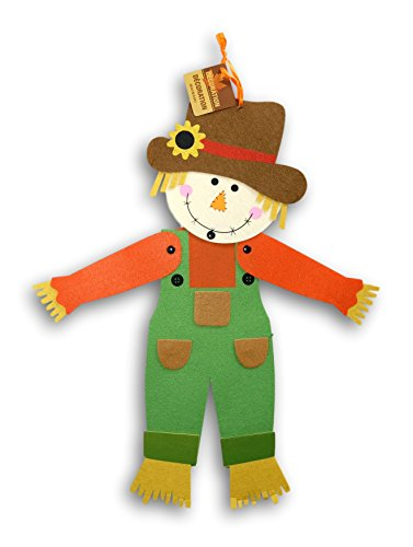 - Jointed Felt Scarecrow Hanging Wall Decoration