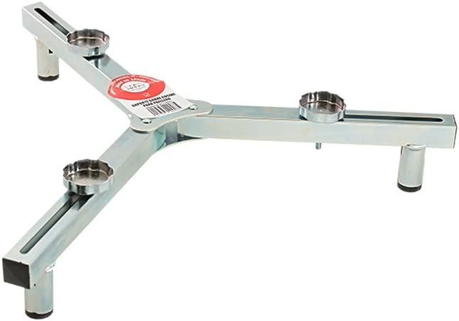La Ideal Soporte para Mesa para Gas Anillo, Plata, 8cm, Paquete de 6