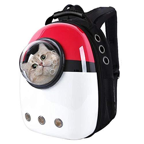 QKEMM Hundebox Hundetransportbox aus Tragbaren Rucksack Transparent Reisen Auto Transportbox Reisebox Katzenbox