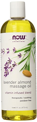 NOW Foods Lavender Almond Massage Oil 16 Fluid Ounces