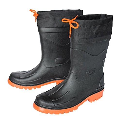 MADSea Herren Gummistiefel Nils, Farbe:schwarz/orange;Größe:45