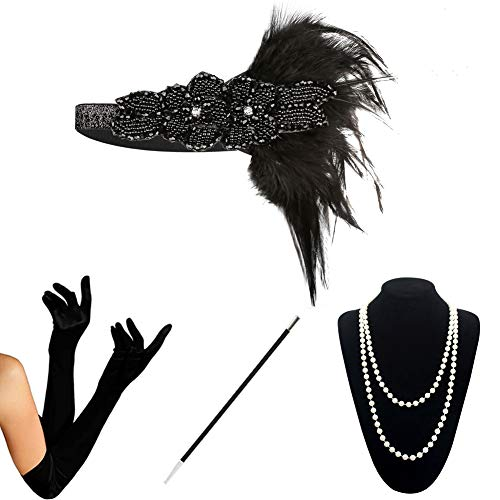 1920s Accessories Set Flapper Costume for Women (S4-5808) -