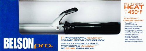 - Belson Pro 1 inch Accusilver Ceramic Digital Curling Iron