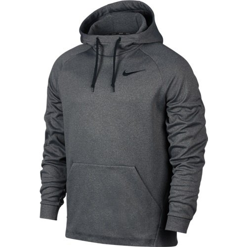 NIKE Men's Therma Training Hoodie Carbon Heather/Black Size Large