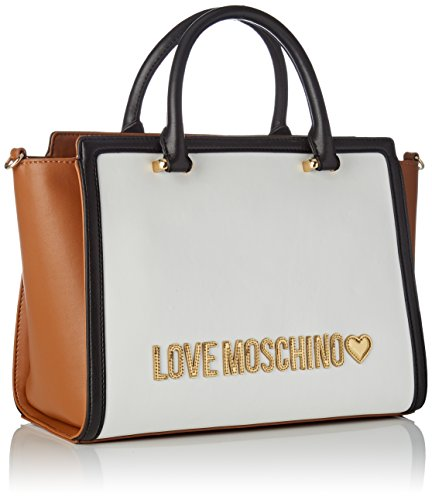 black Shopper Moschino JC4214PP05KA White tan Love Femme Multicolore Bq8wO