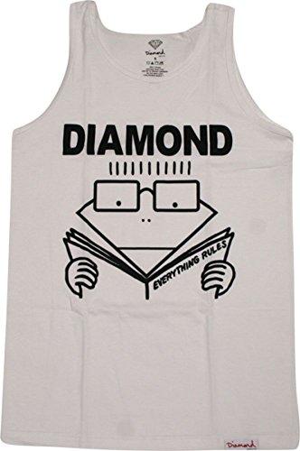 Diamond Everything Rules Tank Xlarge White Short Sleeve