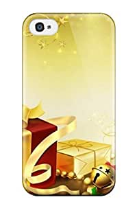 Perfect Attractive Widescreen Merry Christmas Case Cover Skin For Iphone 4/4s Phone Case