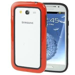 (color 2 Series-) Bumper Frame Plastic TPU para Samsung Galaxy Grand Duos i9080 i9082/(Red) /