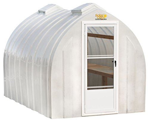 Solar Gem 8' x 15' Large, Fully Assembled, Heavy Duty, Walk-In Fiberglass Greenhouse ()