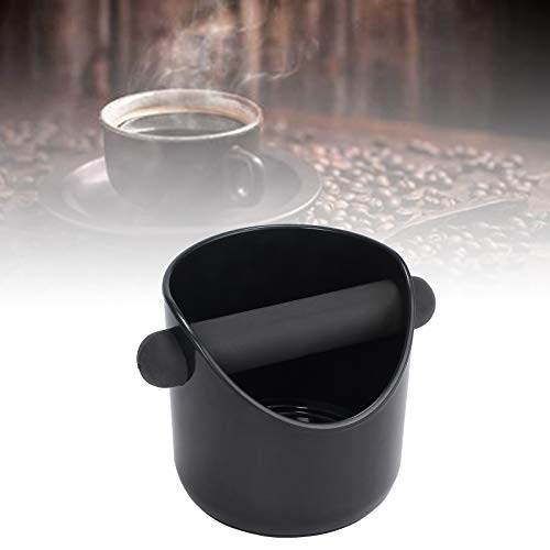 CAMWAY Espresso Grinds Waste Container Tamper Bin Coffee Knock Box Black by CAMWAY (Image #1)