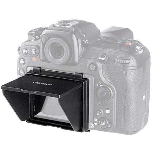(Camera Sun Hood, VBESTLIFE DSLR Camera LCD Screen Sun Shade Hood Pop-Up Visor Sun Shade Hood Cover for Nikon D500)