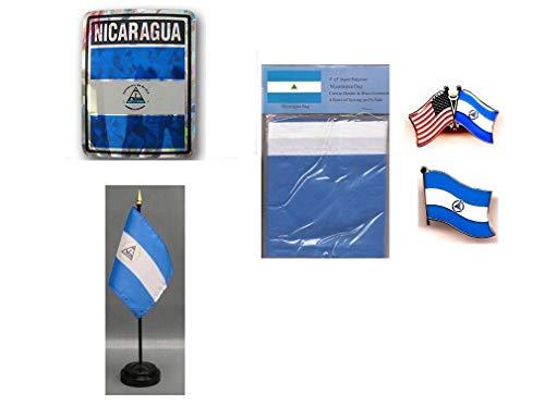MWS - Nicaragua Heritage Flag Set  3'x5'
