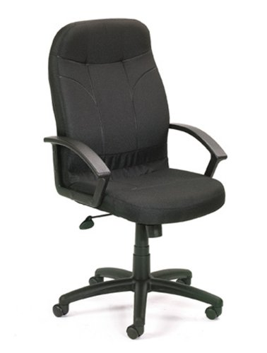 Boss Office Products B8801-BK Executive Fabric Chair in Black