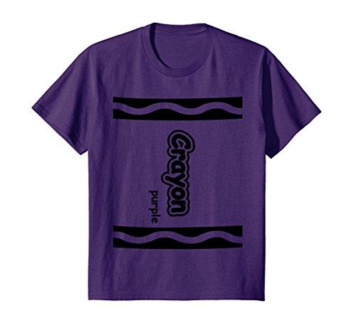 Kids Purple Crayon Easy Halloween Costume Cute T-Shirt 10 Purple - Cute Halloween Costumes For Girl Couples