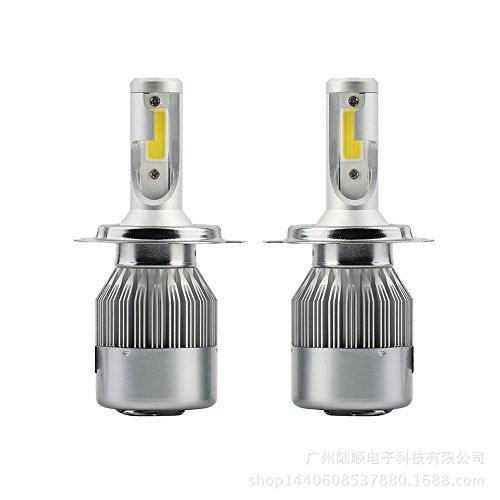 Qotone 2pcs 36W C6 6000K Cold White H1 H3 H4 H7 H8 880 9005 9004 9006 9007 LED Headlight Bulb 3800LM Beam Car Head Lamp Light