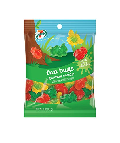 7-Select Fun Bugs Gummy Candy Assorted (6 bags, 4 oz each)