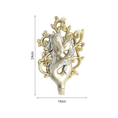 LEEQ 1 Perchero de Pared con diseño de Caballo de Amor ...