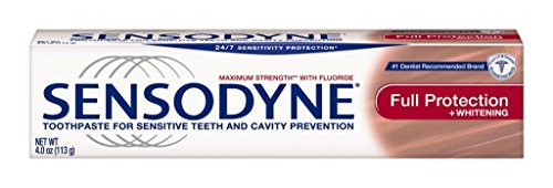 Sensodyne Toothpaste for Sensitive Teeth and Cavity Prevention, Maximum Strength, Full Protection, 4-Ounce Tubes by Sensodyne ()