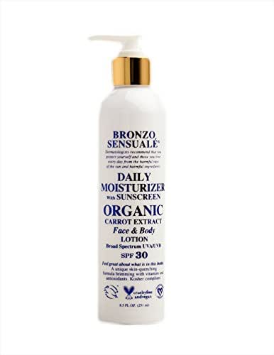 Bronzo Sensualé Daily Moisturizer For Face with SPF 30 Sunscreen 8.5 Ounce