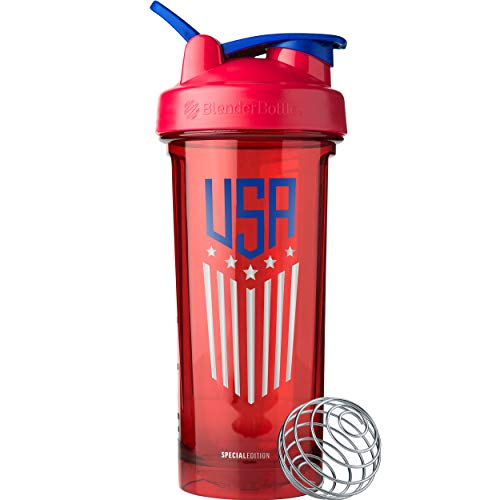 BlenderBottle C04207 Pro Series Patriotic Shaker Bottle, 28oz, USA ()
