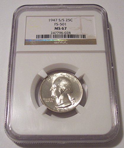 1947 S Washington S/S RPM Variety FS-501 Quarter MS67 NGC