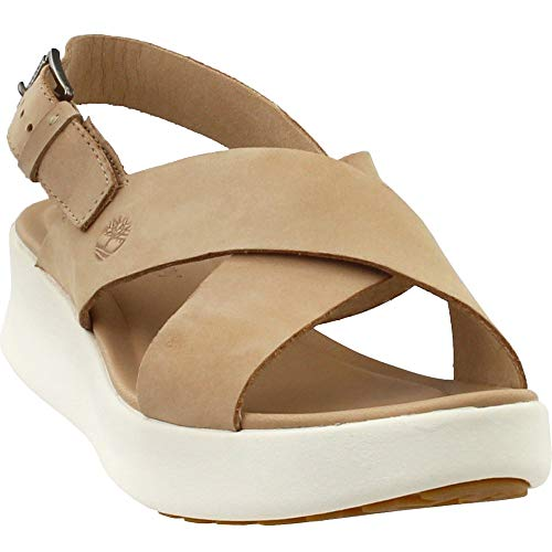 (Timberland Women's Los Angeles Wind Slingback Light Beige Nubuck 8 B US)