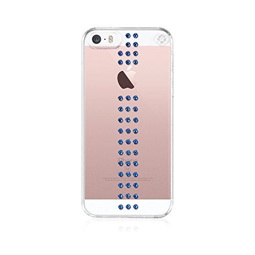Bling-My-Thing - Stripe - Case for Apple iPhone SE/5/5S - Retail Packaging - Capri Blue