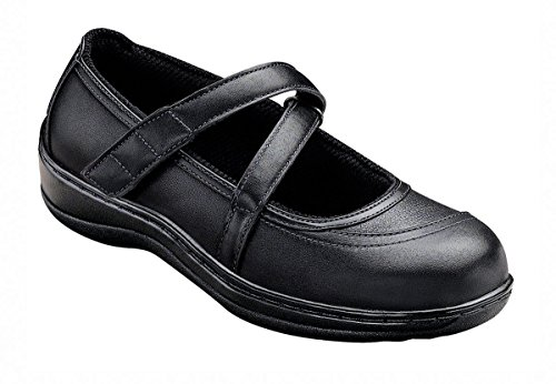 Orthofeet Pain Relief Arch Support Bunions Orthopedic Arthritis Diabetic Womens Mary Jane Leather Shoes Celina Black