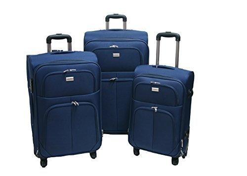 Trolley valigia set valigie semirigide set bagagli in tessuto super leggeri 4 ruote piroettanti trolley piccolo adatto per cabina con compagnie lowcost art so1 / blu