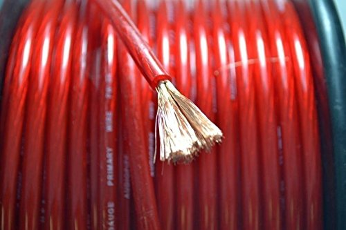 10 FT 8 GA RED Power Ground Primary Wire Copper Mix AudioPipe Car Audio 10 FOOT