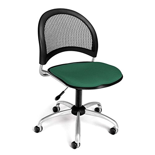 OFM Moon Series Armless Fabric Swivel Chair, Shamrock Green