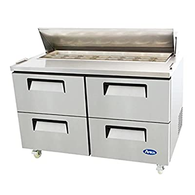 """Atosa Usa MSF8313 Stainless Steel Sandwich Prep Table 60"""" 4 Drawer Refrigerator"""