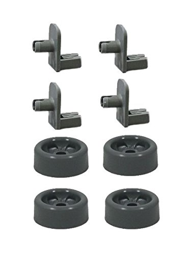 """Price comparison product image Repair Kit for GE Dishwasher Rack Wheel and Axle Shaft 4 each"""""""