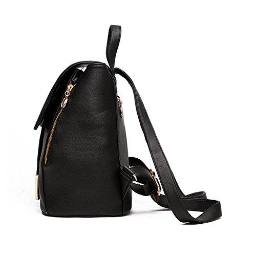 sfpong - Bolso mochila  para mujer blanco beige large morado claro