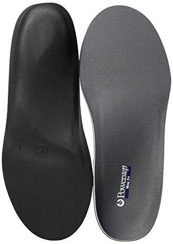 Powerstep Wide Fit Full Shoe Inserts, Gray, 8 6E US ()
