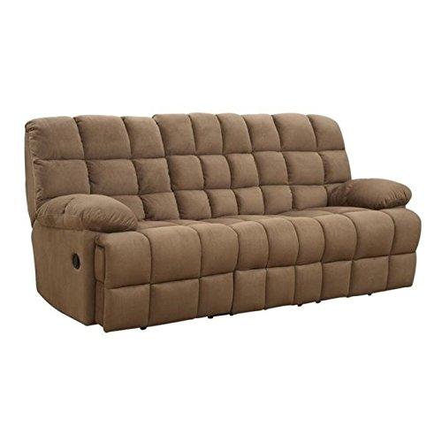 Bowery Hill Reclining Sofa in Mocha