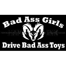 Bad Ass Girls Dodge Ram Die Cut Vinyl Car Decal Wall Sticker