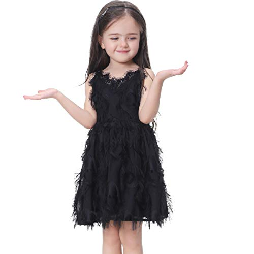Flofallzique Girls Dress Tassel Toddler Birthday Wedding Party Easter Lace Baby Clothes