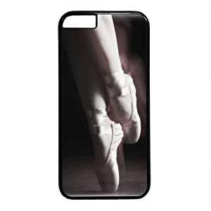 Beautiful Ballet Dancer Theme Case for iPhone 6 plus PC Material Black