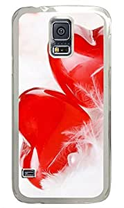 Samsung Galaxy S5 Two Lovers Heart PC Custom Samsung Galaxy S5 Case Cover Transparent