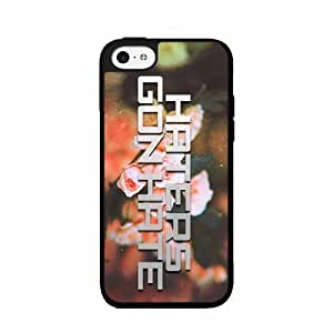 Haters Gon Hate on Floral Background- TPU RUBBER SILICONE Phone Case Back Cover iPhone 5c
