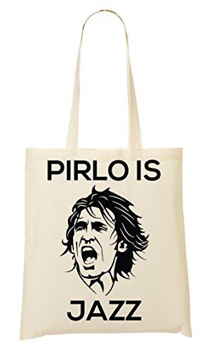 Pirlo Is Jazz Stencil Handbag Shopping Bag
